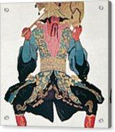 Costume Design For A Chinaman Acrylic Print