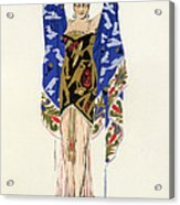 Costume Design For A Dancing Girl Acrylic Print