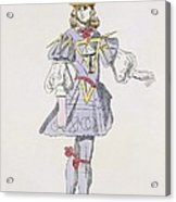 Costume Design For Geometry In A 17th Acrylic Print