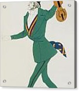 Costume Design For Paganini In The Enchanted Night Acrylic Print