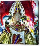 Costumed Man Tenerife Acrylic Print