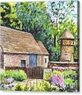 Cotswold Barn Acrylic Print by Carol Wisniewski