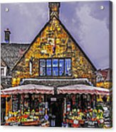 Cotswold Street Market Acrylic Print