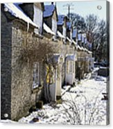 Cotswolds Cottages In Winter  Acrylic Print