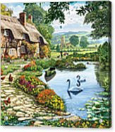 Cottage By The Lake Acrylic Print