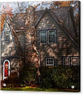 Cottage - Cranford Nj - Autumn Cottage  Acrylic Print