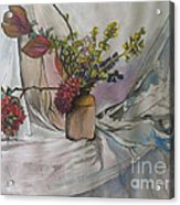 Cottage Flowers Acrylic Print