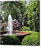 Cottage Garden Fountain Acrylic Print