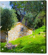 Cottage In The Forest Acrylic Print