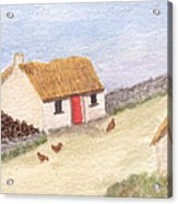 Cottage In The West Acrylic Print