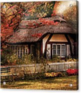 Cottage - Nana's House Acrylic Print by Mike Savad