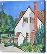 Cottage On A Hill Acrylic Print