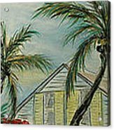 Cottage Rooftops And Palm Trees Harbor Island Acrylic Print