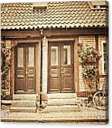Cottage Townhouses In Lund Acrylic Print