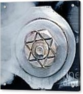 Cotter Pin For Driver Wheels On A Steam Locomotive Acrylic Print by Wernher Krutein