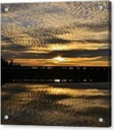 Cotton Ball Clouds Sunset Acrylic Print