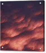 Cotton Candy Clouds Acrylic Print