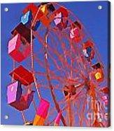 Cotton Candy Ferris Wheel Acrylic Print