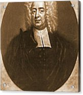 Cotton Mather 1728 Acrylic Print