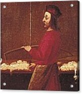 Cotton Weaver, 17th C. Early Modern Acrylic Print