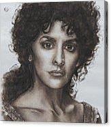 counselor Deanna Troi Star Trek TNG Acrylic Print by Giulia Riva