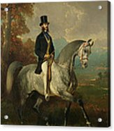 Count Alfred De Montgomery 1810-91 1850-60 Oil On Canvas Acrylic Print