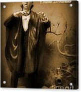 Count Dracula In Sepia Acrylic Print