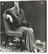 Countess Celani Lepri Wearing A Velvet Dress Acrylic Print