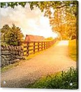 Country Alley Acrylic Print