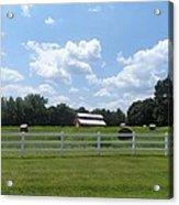 Country Barn And Hay Acrylic Print