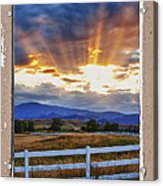 Country Beams Of Light Pealing Picture Window Frame Vie Acrylic Print