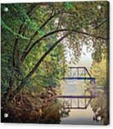 Country Bridge Acrylic Print by William Schmid