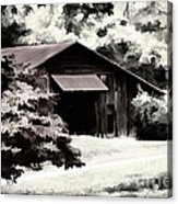 Country Charm In Dramatci Bw Acrylic Print