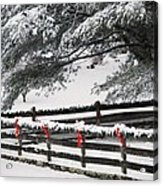 Country Christmas Acrylic Print