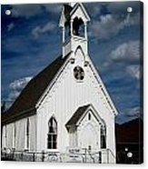 Country Church Acrylic Print by Claudette Bujold-Poirier