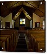 Country Church Interior Acrylic Print