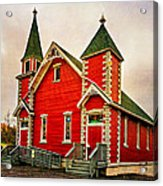 Country Church Paint Acrylic Print