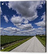 Country Clouds Acrylic Print