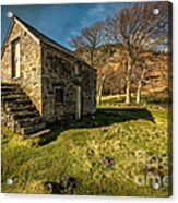 Country Cottage Acrylic Print by Adrian Evans