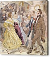 Country Dance, 1820s Acrylic Print