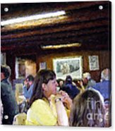 Country Diner Acrylic Print by Ursula Freer