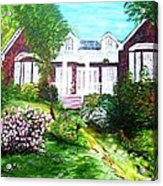 Country Estate In Spring Acrylic Print