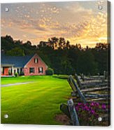 Country Estate Sunset Acrylic Print