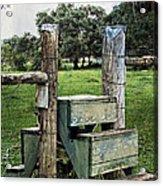 Country Farm Fence Stile Crossing Acrylic Print