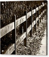 Country Fence Sepia Acrylic Print