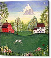 Country Frolic One Acrylic Print