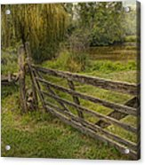 Country - Gate - Rural Simplicity  Acrylic Print by Mike Savad