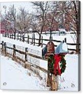 Country Holiday Cheer Acrylic Print
