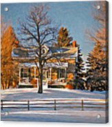 Country Home Oil Acrylic Print