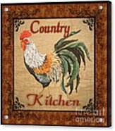 Country Kitchen Rooster Acrylic Print